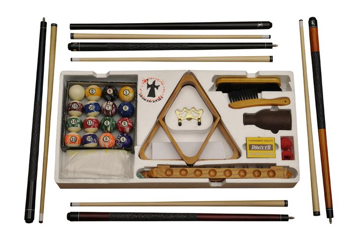Traditional Cedar Log Deluxe Pool Table Accessory Kit
