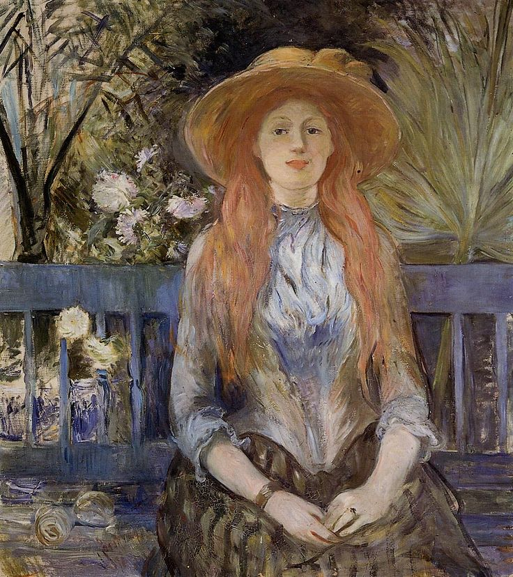 On a Bench, 1889 - Berthe Morisot (French, 1841-1895) Impressionism