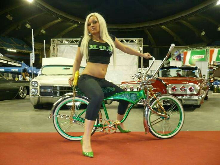 Bikes Low Custom Rider Girl