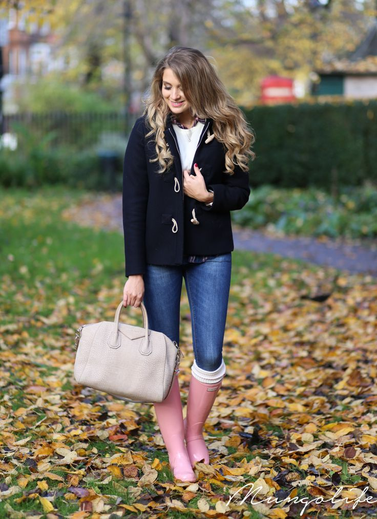 Mungolife - toggle coat and hunter wellies