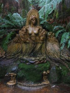 William Ricketts Sanctuary, in the Dandenongs, Victoria, Australia. Situated in the Dandenongs in a ferny glade, William Ricketts Sanctuary is a place of beauty and tranquillity, due both to the natural setting and the mystical sculptures half hidden among ferns along the pathways.