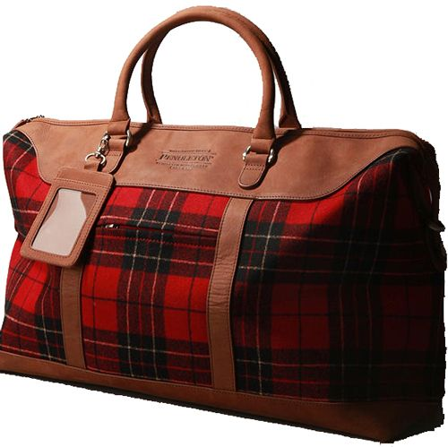 The Perfect Overnight Bag - Hip Travel Mama: Seattle travel expert.  Pendleton Plaid - Made in the USA