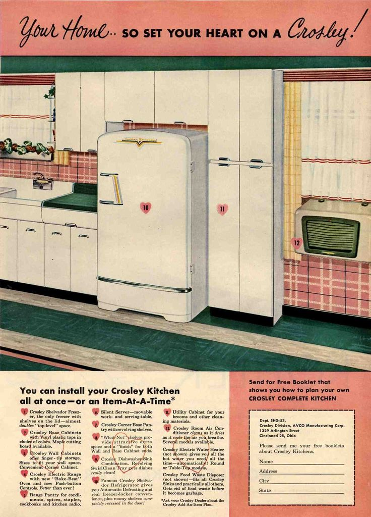 White Aluminum Kitchen Cabinets | ... For Her Vintage 1953 Crosley Cabinets  Instead!
