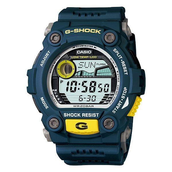 Casio G-Shock Navy & Yellow Sporty Mens Watch | Buy 30 - 50% Sale