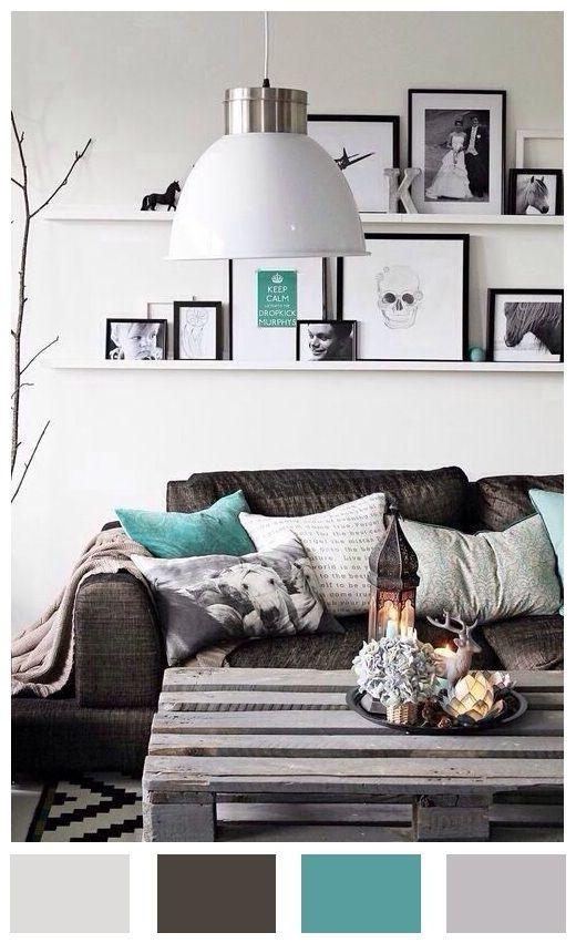 Paleta de colores ideal para crear una atmósfera fresca en un ambiente acojedor.