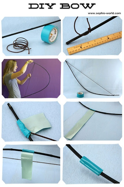 DIY bow for a Hunger Games / Brave / Avengers / LOTR inspired party.  From Sophie's World.