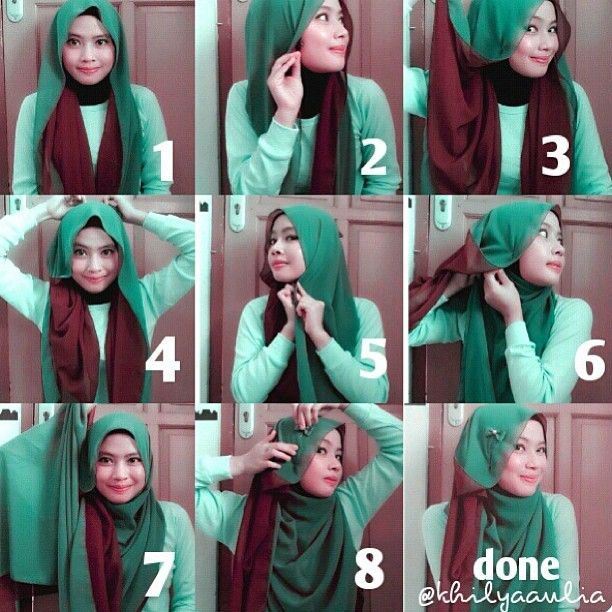 I love double shades hijabs, they give you many choices to match your outfits and looks beautiful played together to create a gorgeous look. I love these two colors together they can be paired with a brown outfit or a…
