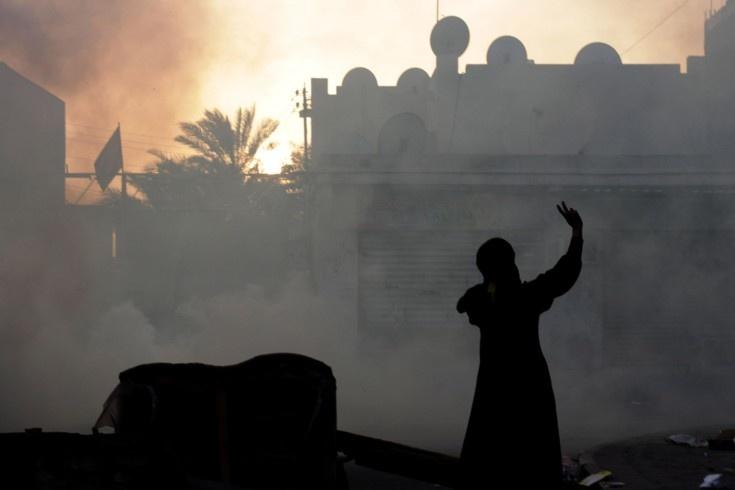 peace: Riot Police, Anti Government Slogans, Firing Tear, Tear Gas, Police Firing
