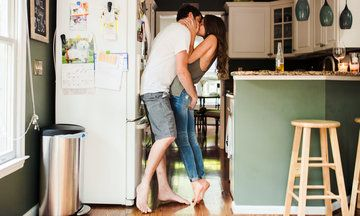 Couple's At-Home Engagement Pics Will Make You Feel All Warm And Fuzzy