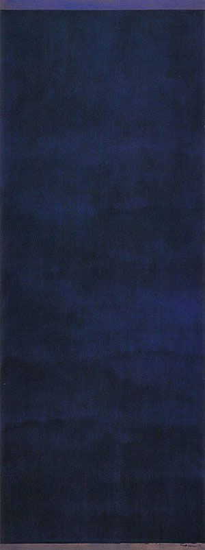 Barnett Newman Day Before One 1951: Vena Renee This painting haunts my dreams. So simple and yet complicated in it's layers of blues and blacks that draws you in. My breath catches as I feel it's pull into a dark enveloping depth. I first saw this painting at the Kunstmuseum in Basel, Switzerland.