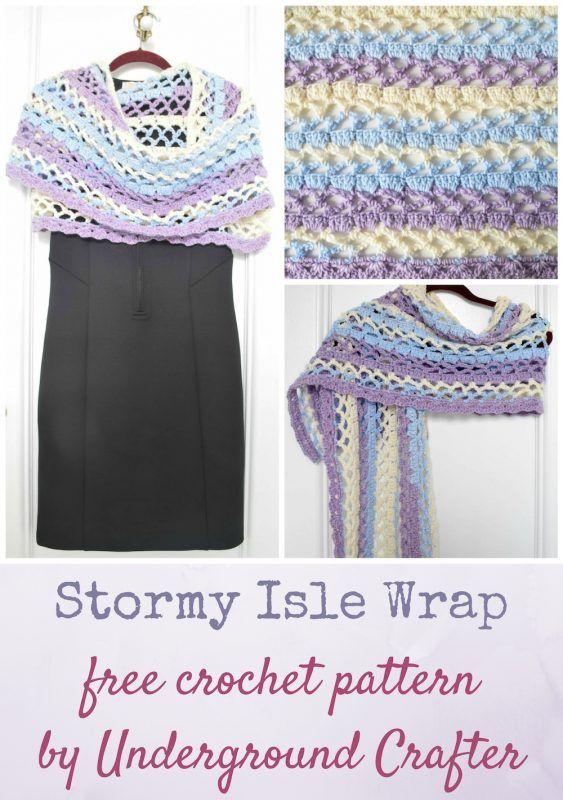Mejores 143 imágenes de shawls and wraps en Pinterest | Ponchos ...
