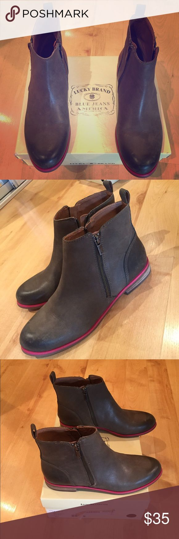 Lucky Brand Military Rider Boots Lucky Brand Military Rider double zip, flat Heel boot. Never worn :) Lucky Brand Shoes Ankle Boots & Booties