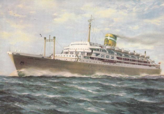 O navio Santa Maria que foi atacado. Infelizmente segundo acabei de ler, na OXL, morreu uma pessoa. Salvaram-se muitas mais.