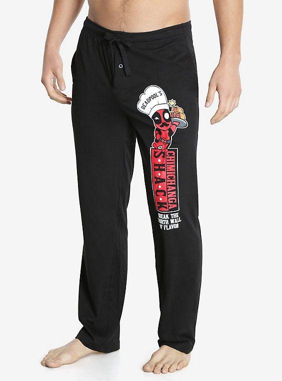 Marvel Deadpool Kawaii Chef Pajama Pants, BLACK