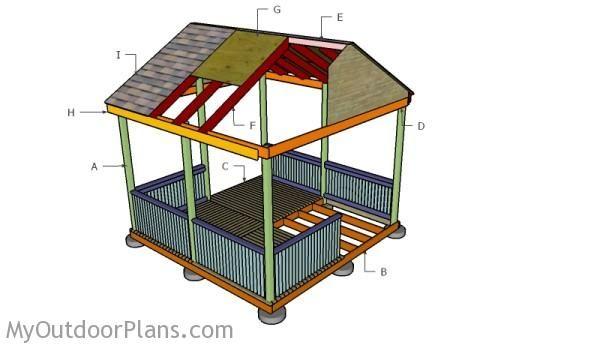 Building a 12x12 gazebo free gazebo plans pinterest for Build a cupola free plans
