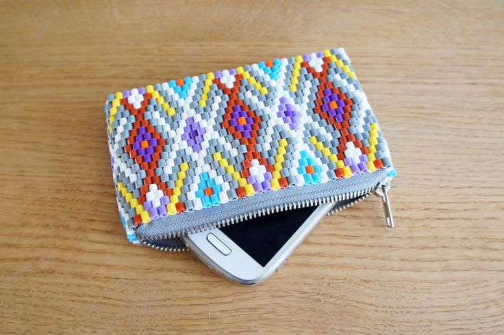 Hama perler purse by StyleDesignCreate -  Tutorial : http://www.styledesigncreate.com/2014/03/diy-hama-perlepung-13/
