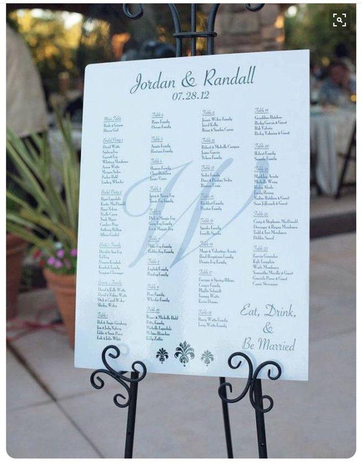 Rush order seating chart by lemondropweddingshop on