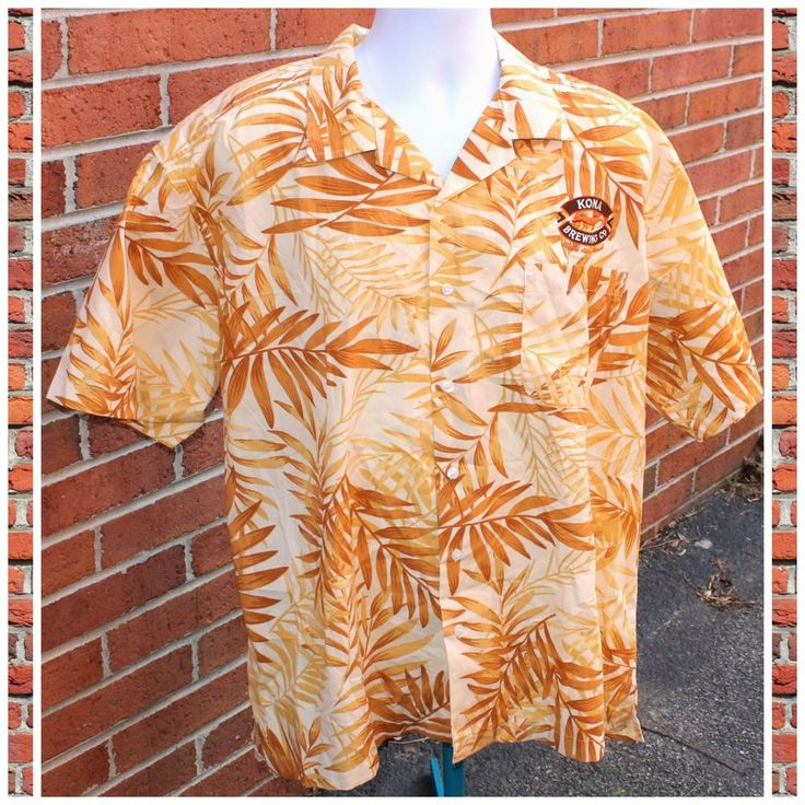 KONA Brewing Company Hawaiian Beer XL Button Front Shirt Liquid Aloha D17 #kona #beer #konabrewingcompany #hawaiian #fashion #follow #style #follow4follow #followback #shortstopemp #shortstop #ebayseller #MenFashion #MenStyle #Male #menswear #casual