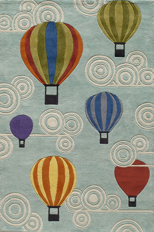 Allow your imagination to wonder with a whimsical hot air balloon rug!