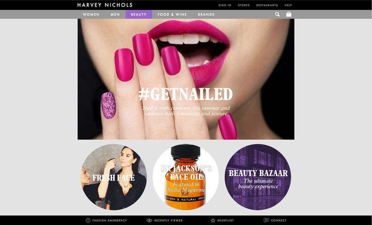 Creative Review - Harvey Nichols' new website