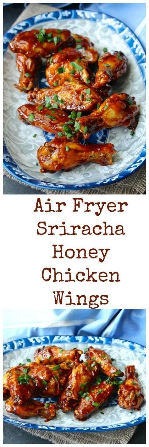 Air Fryer Sriracha-Honey Chicken Wings