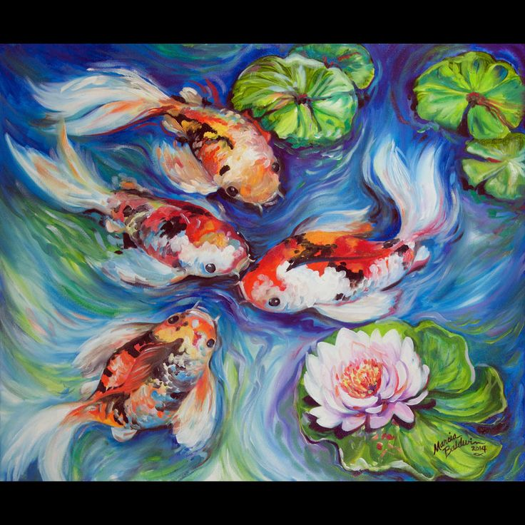 87 best images about marcia baldwin artist on pinterest for Original koi fish