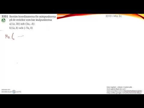 Matematik 5000 Ma 2b   Kapitel 3   Koordinatgeometri   Mittpunktsformeln...