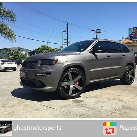 jeep srt factory black with custom matte grey wrap 22. Black Bedroom Furniture Sets. Home Design Ideas