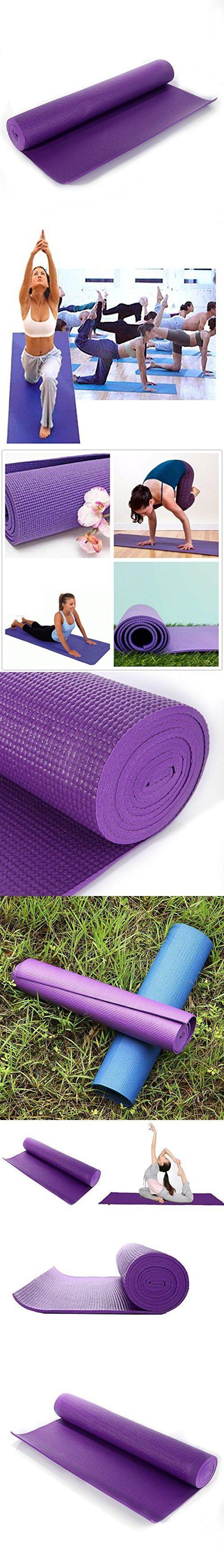 Evaline Extra Thick High exercise Anti-Slip Density Anti-Tear Exercise Foam Yoga Mat (Purple 6824inch)