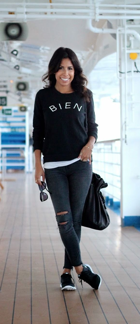 nike frees and layers for a casual outfit