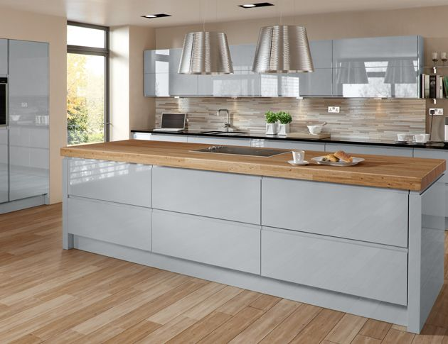 glossy cream kitchen cabinets - Google Search