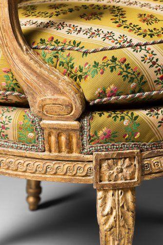 Paire de fauteuils Louis XVI par Georges Jacob - Sièges Style Louis XVI