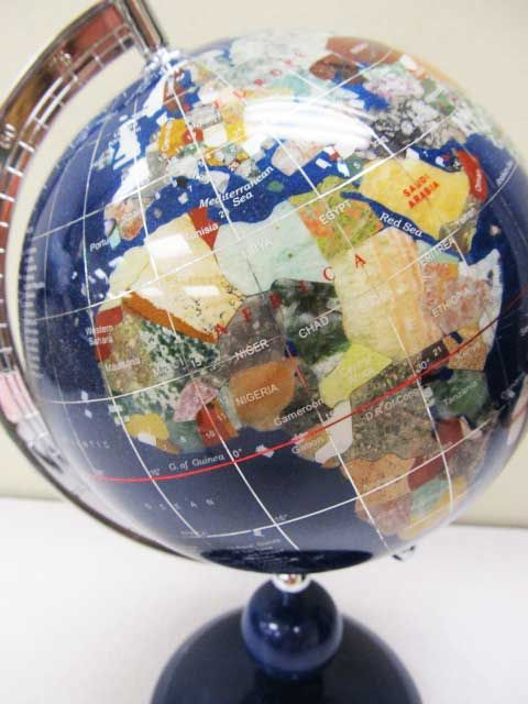 41 best gemstone world globes images on pinterest globes gems inlaid gemstone small 11x8 tabletop world globe gumiabroncs Image collections