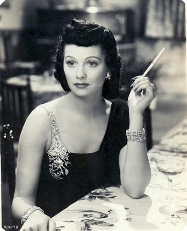 Lucille Ball with Black hair.