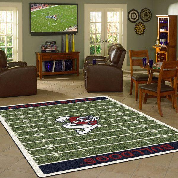 Fresno State Bulldogs NCAA Home Field Football Rug