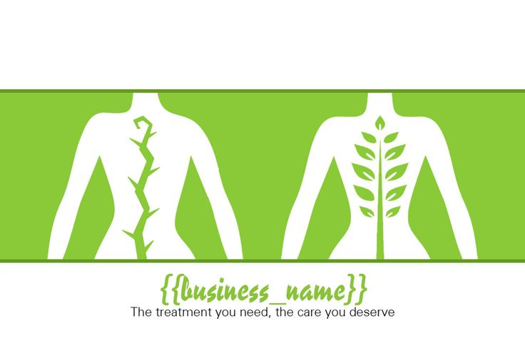 Physiotherapy Business Card (back) designed by me at Nic's Designs.