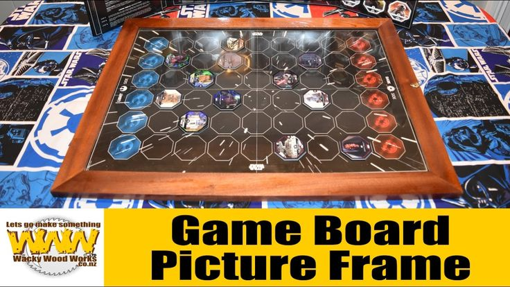 Game Board, Picture Frame- Off the Cuff - Wacky Wood Works.
