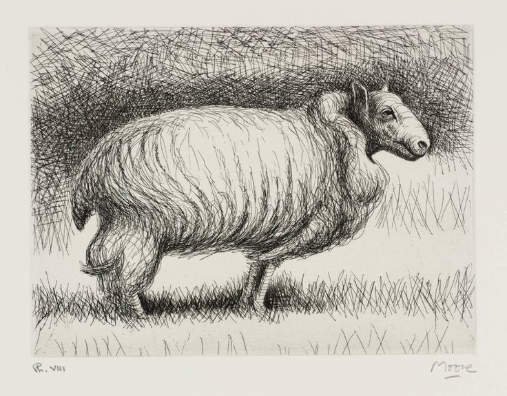 Henry Moore OM, CH 'The Snow Sheep', 1974 © The Henry Moore Foundation, All Rights Reserved, DACS 2014