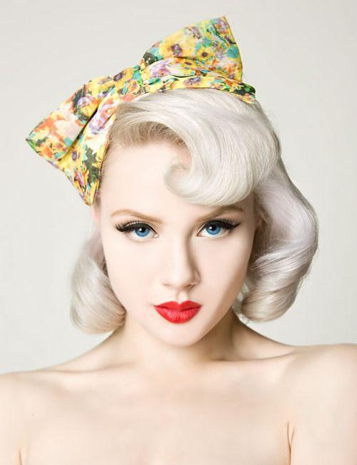 platinum blonde pin up hair