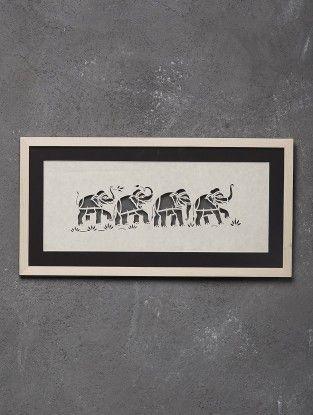 Elephant Saanjhi Wall Art - 8in x 15.6in