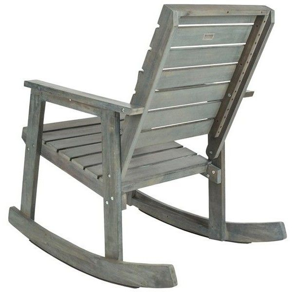 Cabot Rocking Chair Gray Outdoor Rocking Chairs ($249) ❤ Liked On Polyvore  Featuring Home