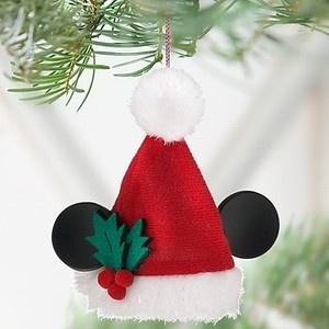 Disney 2011 Santa Mickey Mouse Ear Hat Ornament New | eBay