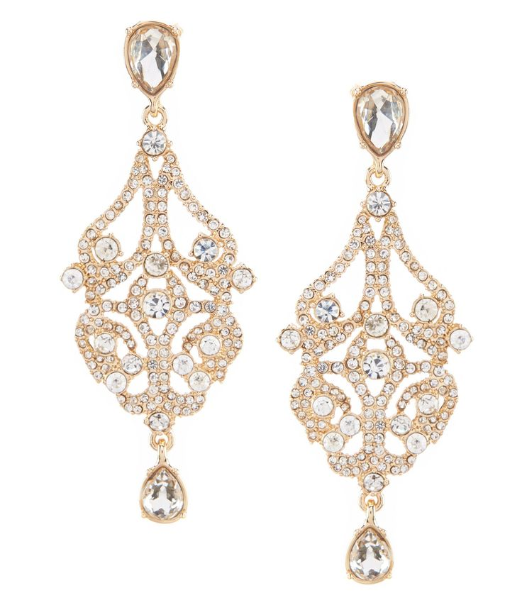 Gemma Layne Openwork Statement Drop Earrings #Dillards