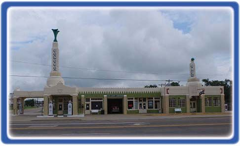 Shamrock, TX Route 66 Visitor's Center and Chamber of Commerce Office.
