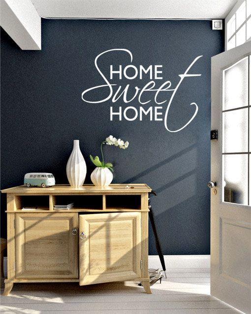 Wall Decal - Home Sweet Home decal for housewares. $53.50, via Etsy.