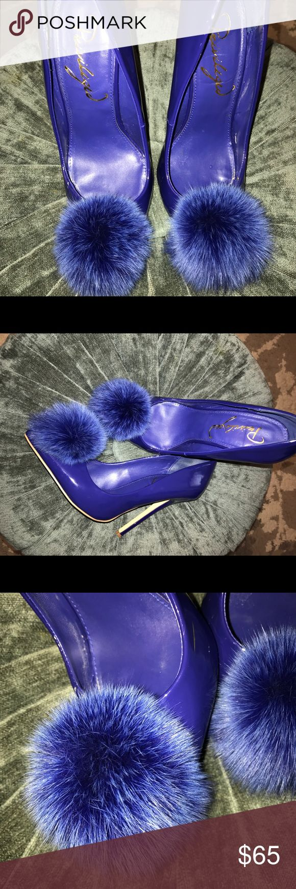Privileged rabbit fur pumps Gorgeous pictures don't do them justice❤️❤️ about 5incs real rabbit fur. You will definitely get a lot of attention in these. I barely ever wear them I figured someone else can get better use of them. Privileged Shoes Heels