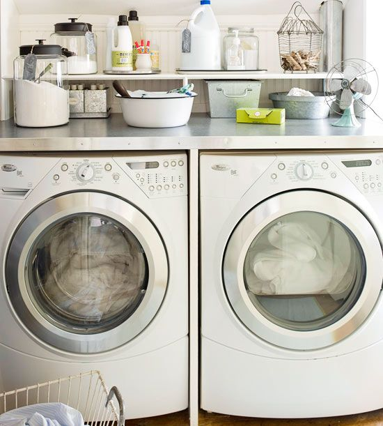 91 best images about laundry room on pinterest the for Shelf above washer and dryer
