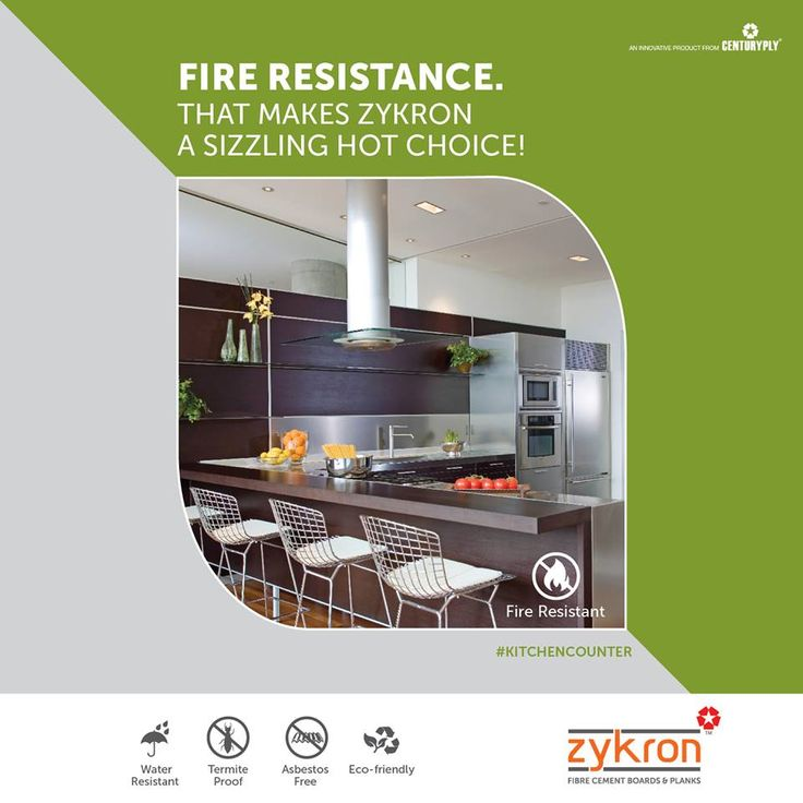 #Zykron - Fibre Cement Boards and Planks, is Fire Resistant. This makes it a great choice for your Home.  Click: http://www.centuryply.com/NAP/Zykron/