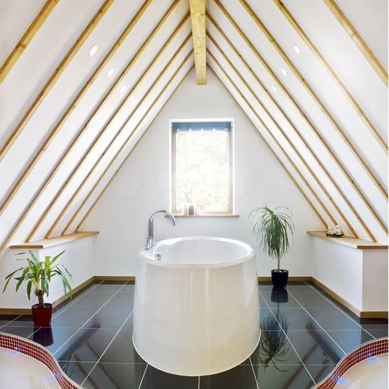 A 'wow' factor bathroom in the eaves   Bathroom suites that make the most of awkward spaces   housetohome.co.uk