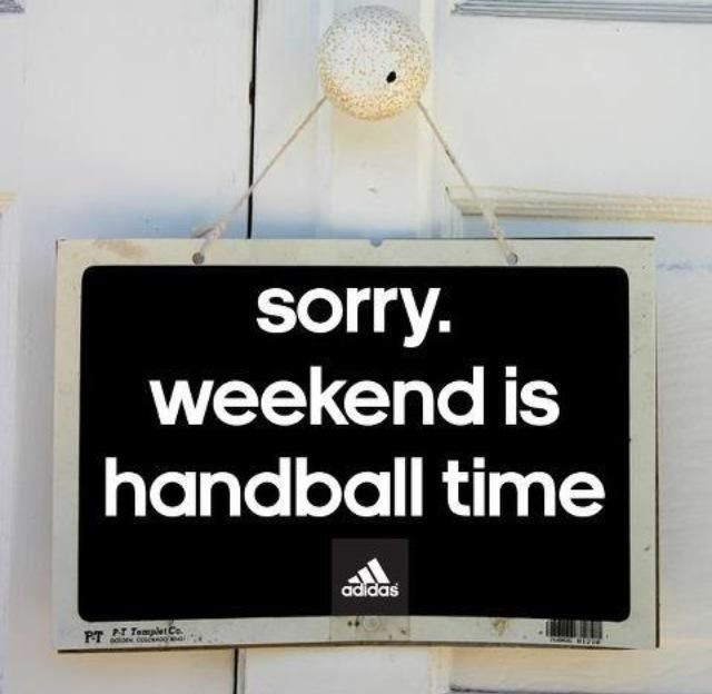 Consacrer ces week-end au handball. Jouer, encourager. #TeamHandball